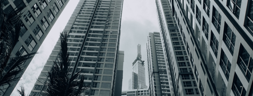 city architecture in grey